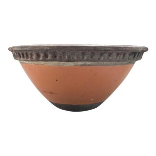 Vintage Mid Century Terracotta Red Clay Pot Vessel Pottery Planter For Sale