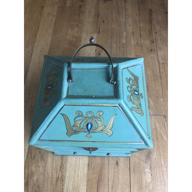 Vintage Indian Hand Painted Box For Sale - Image 12 of 13