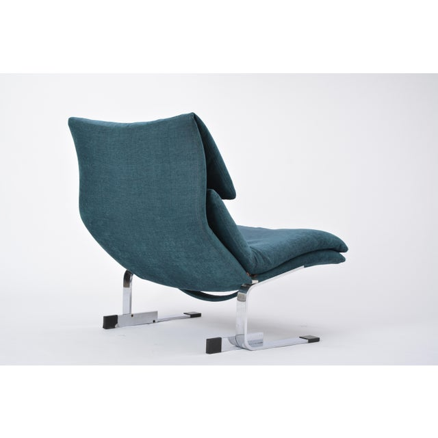 Reupholstered Onda Lounge Chair by Giovanni Offredi for Saporiti, Italy, 1970s For Sale - Image 9 of 12