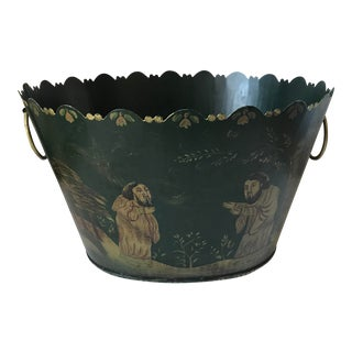 Painted Tole Cachet-Pot