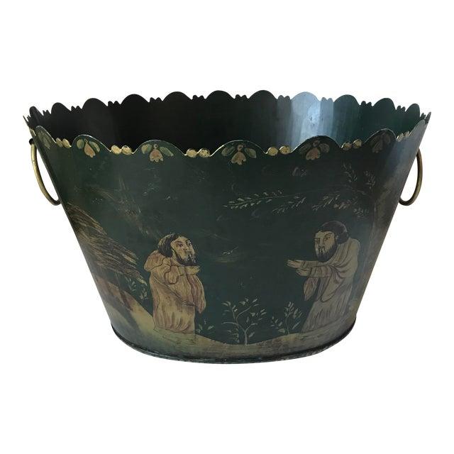 Painted Tole Cachet-Pot For Sale