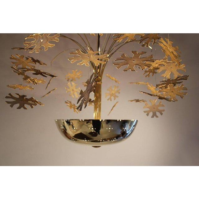 1950s Magnificent Paavo Tynell Snowflake Chandelier For Sale - Image 5 of 10