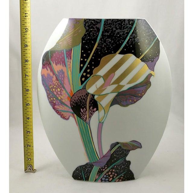 Ceramic Rosenthal Porcelain Brigitte Doege Calla Lily Vase For Sale - Image 7 of 10
