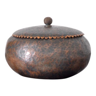 1950s Hammered Copper Catchall, Switzerland For Sale