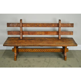 Antique Rustic Arts & Crafts Bench Settee Preview