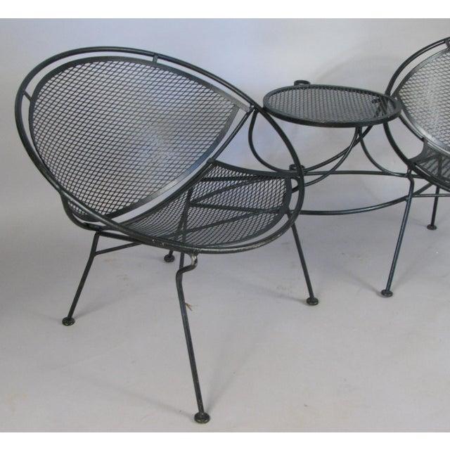 Traditional 1950s Vintage Salterini Radar Tête-à-Tête Settee For Sale - Image 3 of 7