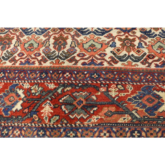 1920s Antique Persian Mahal Rug- 8′8″ × 11′7″ For Sale - Image 4 of 10