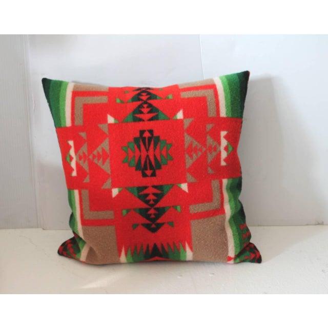 Adirondack Pair of Pendleton Indian Design Blanket Pillows For Sale - Image 3 of 5