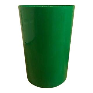 1970s Vintage Kartell Green Waste Basket Bin For Sale