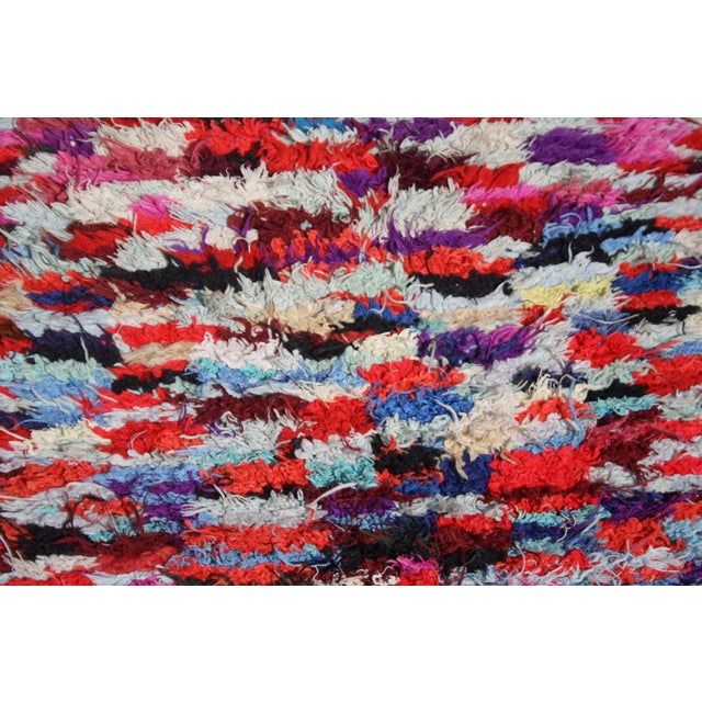 "Hand Loomed Moroccan Wool Rug - 6'7"" x 3'1"" - Image 2 of 2"
