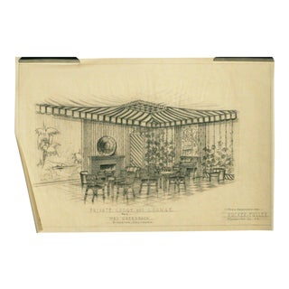 "1955 ""Private Lodge & Lounge"" Architectural Rendering Prepared by Rucker Fuller For Sale"
