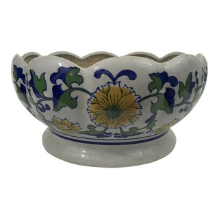 Large Chinese Blue and White Porcelain Planter For Sale