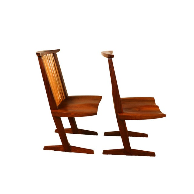 George Nakashima Conoid Chairs - A Pair - Image 2 of 11