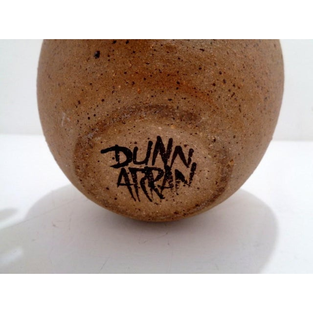 Brown Mid Century Alastair Dunn Isle of Arran Studio Pottery Apple Vase For Sale - Image 8 of 9