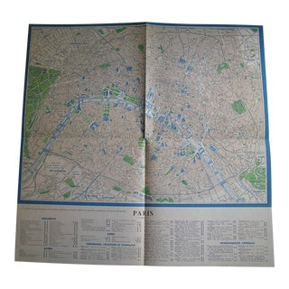 Vintage French Map of Paris and Provinces, Frameable European Art Print