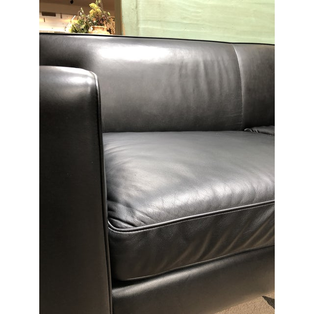 Design Within Reach by American Leather Ted Boerner Theatre Two-Seat Sofa For Sale In San Francisco - Image 6 of 13