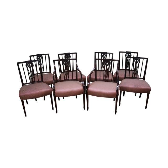 1940s Mahogany Hepplewhite Dining Chairs -Set of 6 - Image 1 of 10