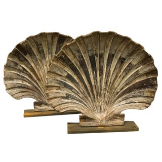 Cast Iron Shells Bookends - a Pair For Sale