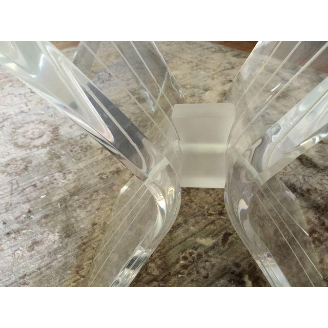 Mid-Century Lucite and Glass Side Tables - A Pair For Sale In New York - Image 6 of 7
