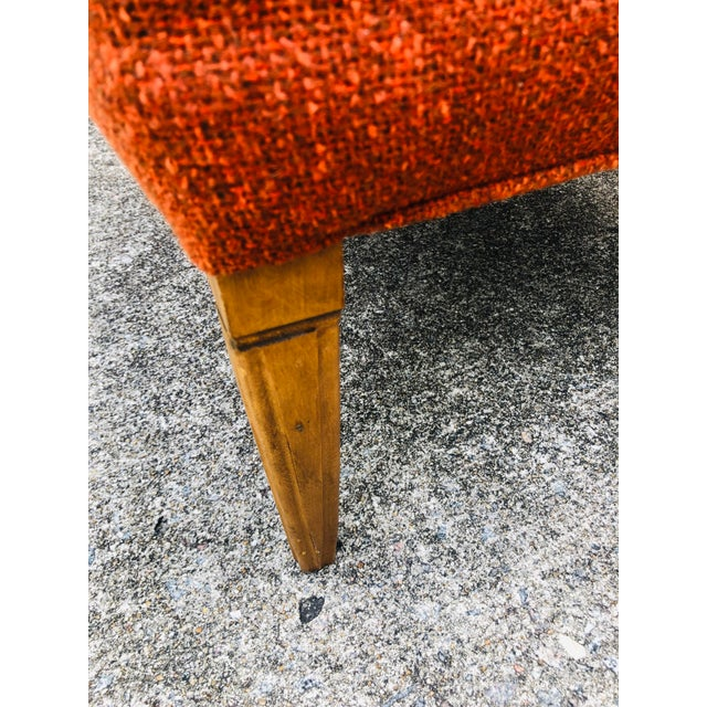 Mid 20th Century Mid-Century Modern Burnt Orange Chairs - a Pair For Sale - Image 5 of 13