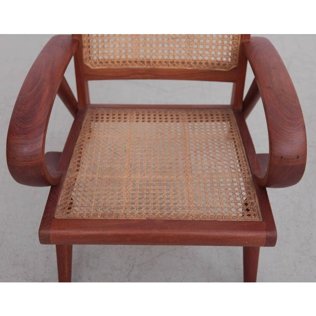 1950s Pair of Danish Solid Teak Studio Lounge Chairs For Sale - Image 5 of 11