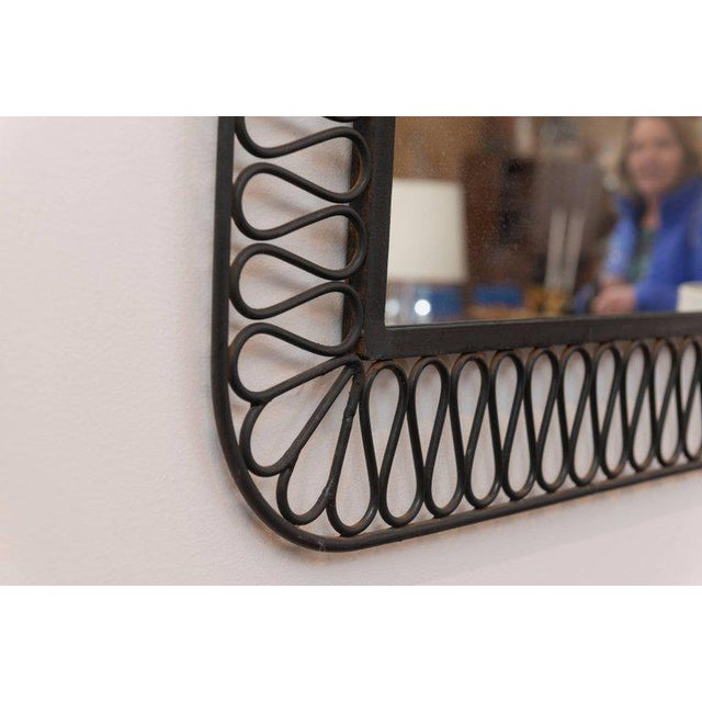 Decorative Black Iron Mirror For Sale In San Francisco - Image 6 of 7