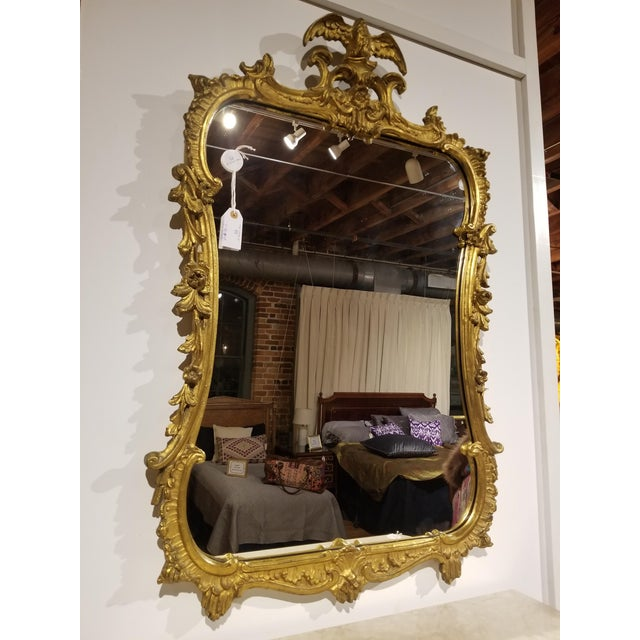 Beautiful Gilt and gesso mirror from the 30th floors of the Waldorf Towers Suites, Waldorf Astoria hotel in New York City....