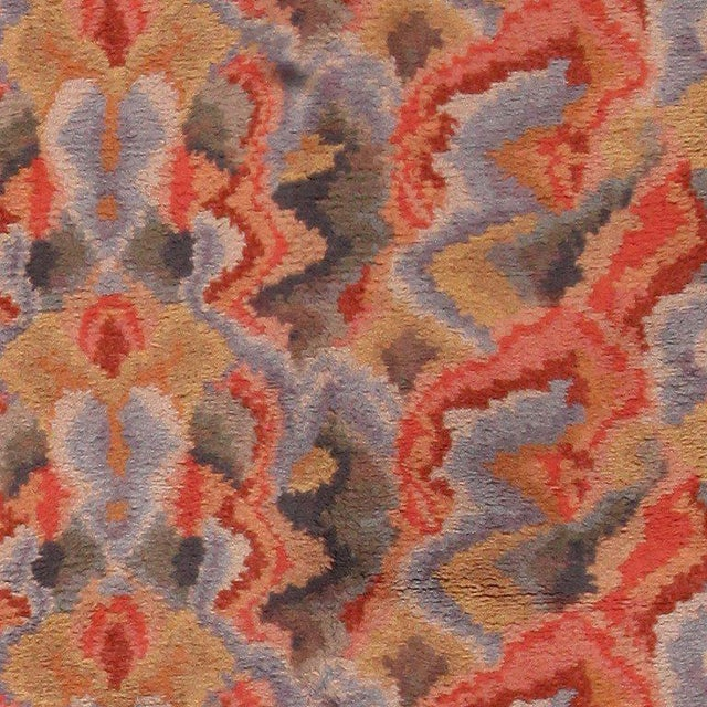 Vintage Swedish Abstract Floral Rug - 10′ × 12′ For Sale - Image 4 of 8