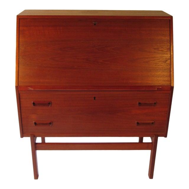 1960s Danish Modern Drop Front Desk For Sale