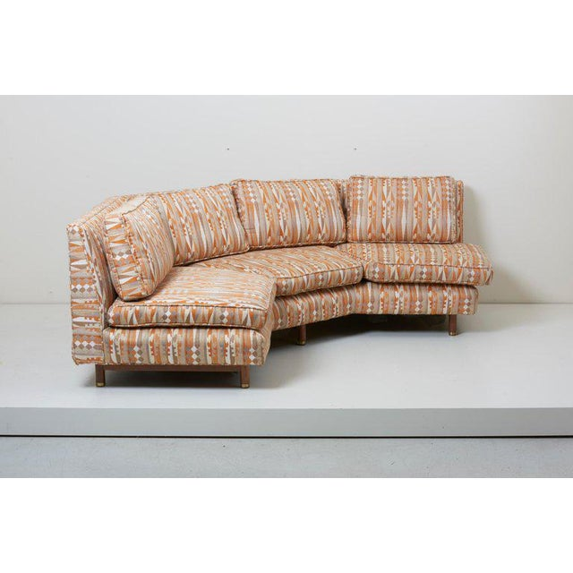 Orange Huge Sectional Sofa by Edward Wormley for Dunbar (Upholstery Needed) For Sale - Image 8 of 13