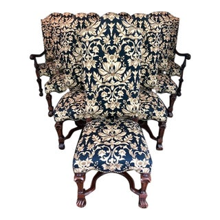 Custom Upholstered Dining Chairs - Set of 10 For Sale