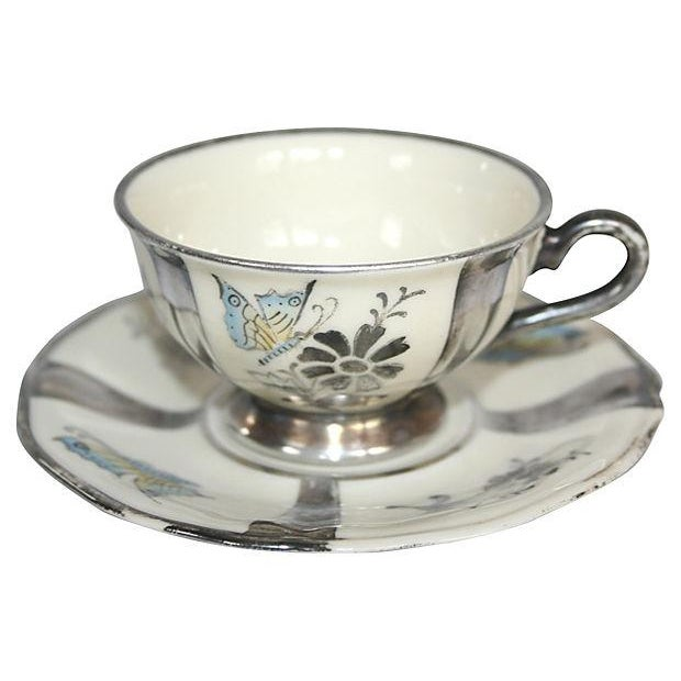 1920s Stolzenfels Silver Butterfly Tea Set/10 For Sale - Image 4 of 7