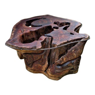 Mahogany Stump Coffee Table For Sale