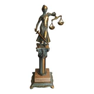 Vintage Blind Justice Statue