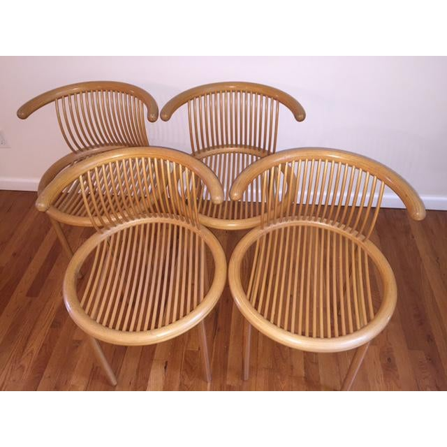 Wood Helmut Lubke Mid-Century Sculptural Chairs - Set of 4 For Sale - Image 7 of 12