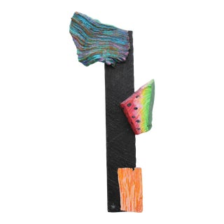 Don Asbill Watermelon Wall Sculpture - California Funk School Painting For Sale