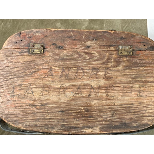 Rustic 1920s Rustic Wooden Baskets - Stack of 2 For Sale - Image 3 of 11