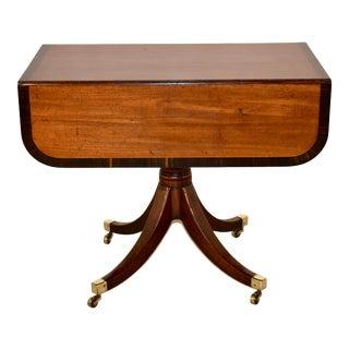 19th C Mahogany Sofa Table With Coromandel Banding For Sale