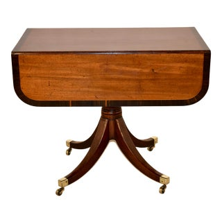 19th Century Mahogany Sofa Table With Coromandel Banding For Sale