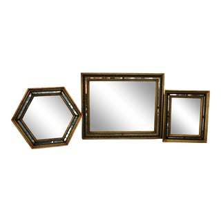 Italian Gold Mirrors - Set of 3 For Sale