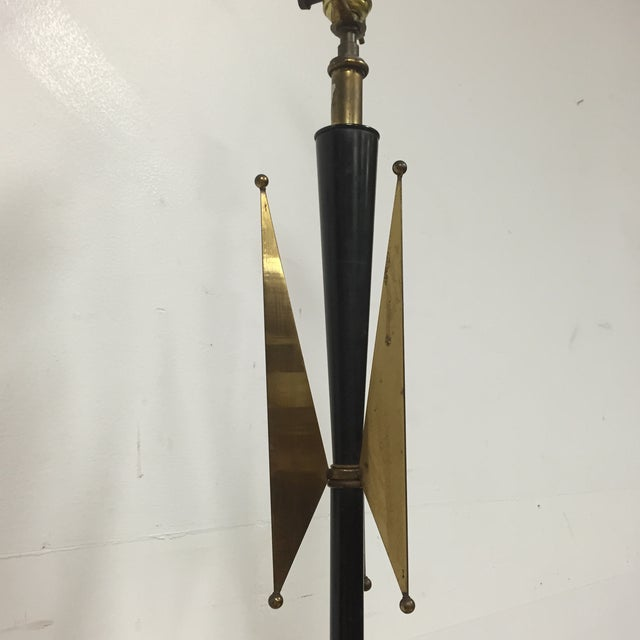 Atomic Brass & Black Floor Lamp - Image 3 of 8