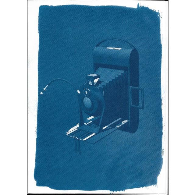 Cyanotype Print - Vintage 4 x 5 Camera - Image 1 of 3