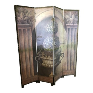 1990s Wood Topiary Decorator Screen For Sale