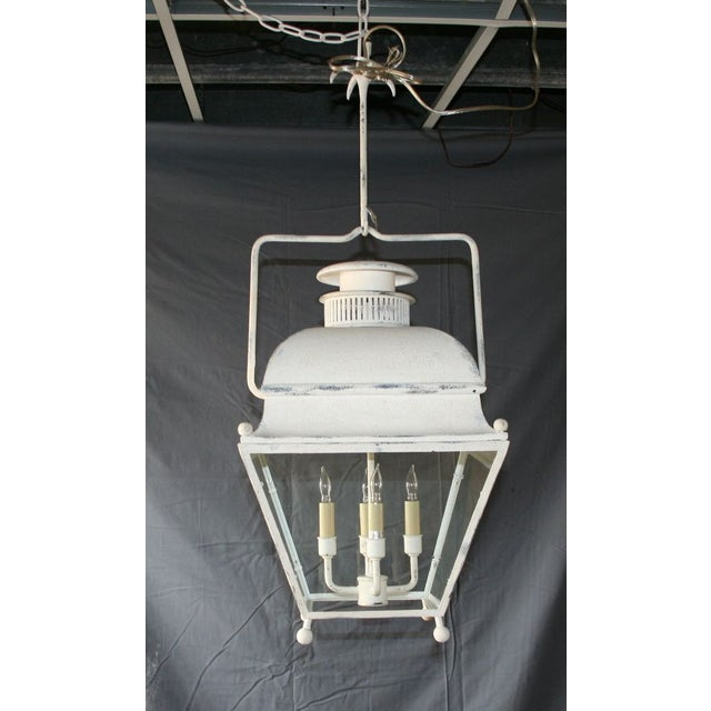Large White Colonial Lantern - Image 3 of 7