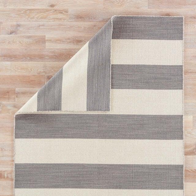 Jaipur Living Tierra Handmade Striped Gray/ White Area Rug - 8′ × 10′ For Sale - Image 4 of 6