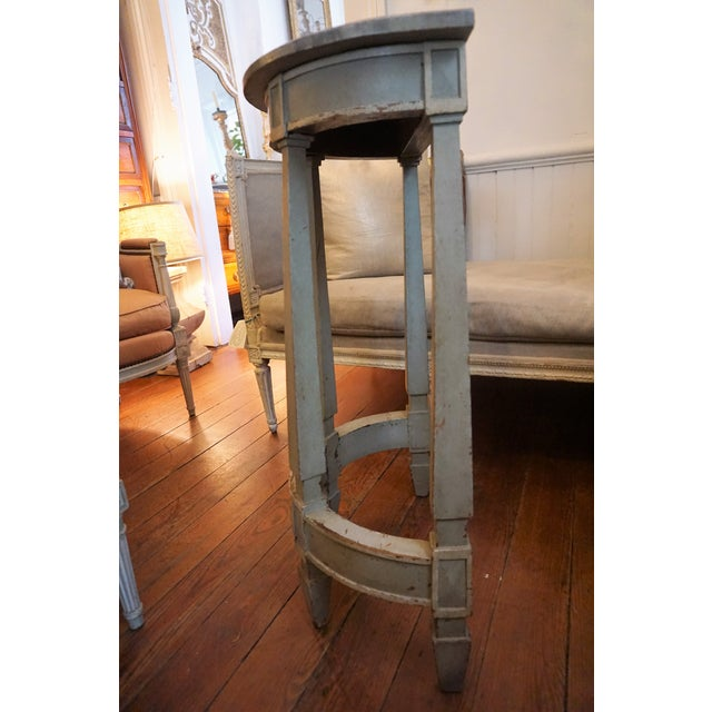 Country 19th Century Petite Shabby Chic Gray Wood Console For Sale - Image 3 of 8