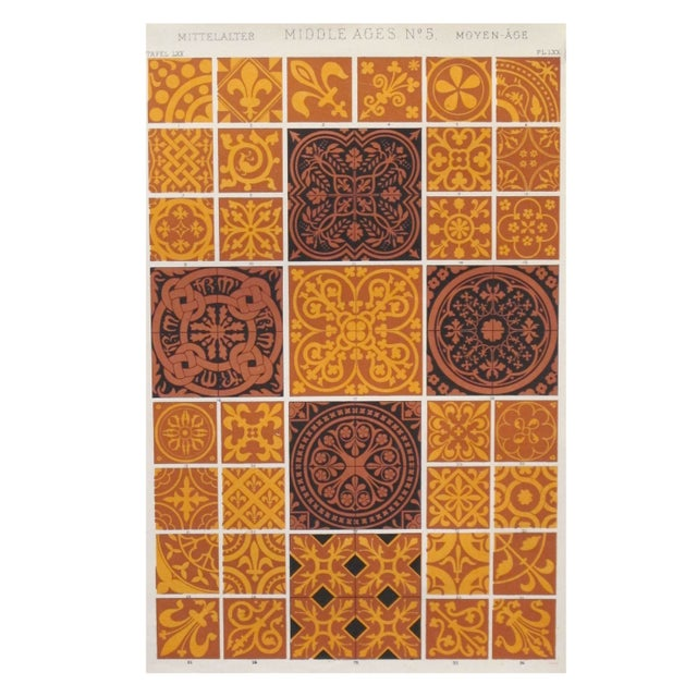 1856 Owen Jones Decorator Sheet - Middle Ages For Sale