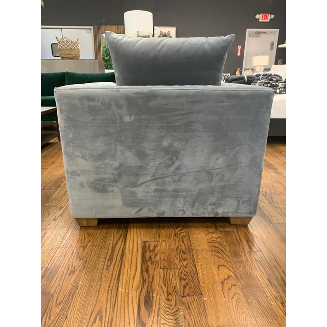 Fabric: Powder Grey Wood: Weathered Beechwood Material Type: BIRCH WOOD, UPHOLSTERY Manufacturer: Alder & Tweed