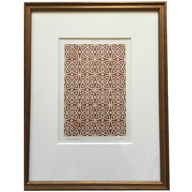 Framed Book Plate Pattern Prints - Set of 6 For Sale