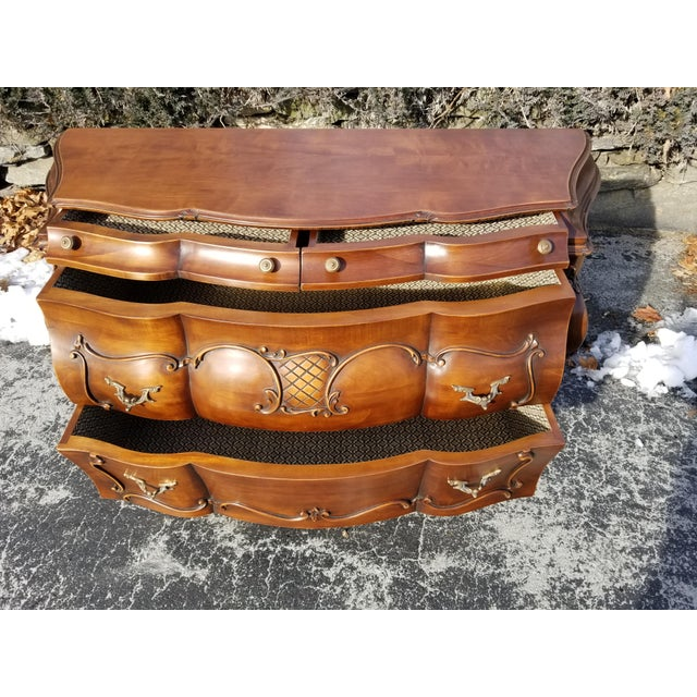 1990s Italian Crafts Credenza Server For Sale - Image 4 of 11